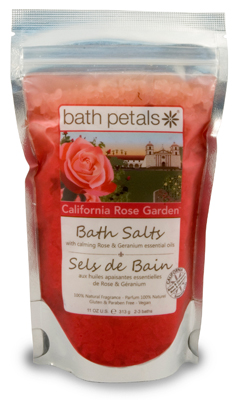 California Rose Garden Bath Salts Bag