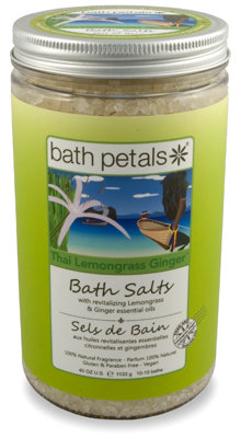 Thai Lemongrass Ginger Bath Salt Jar